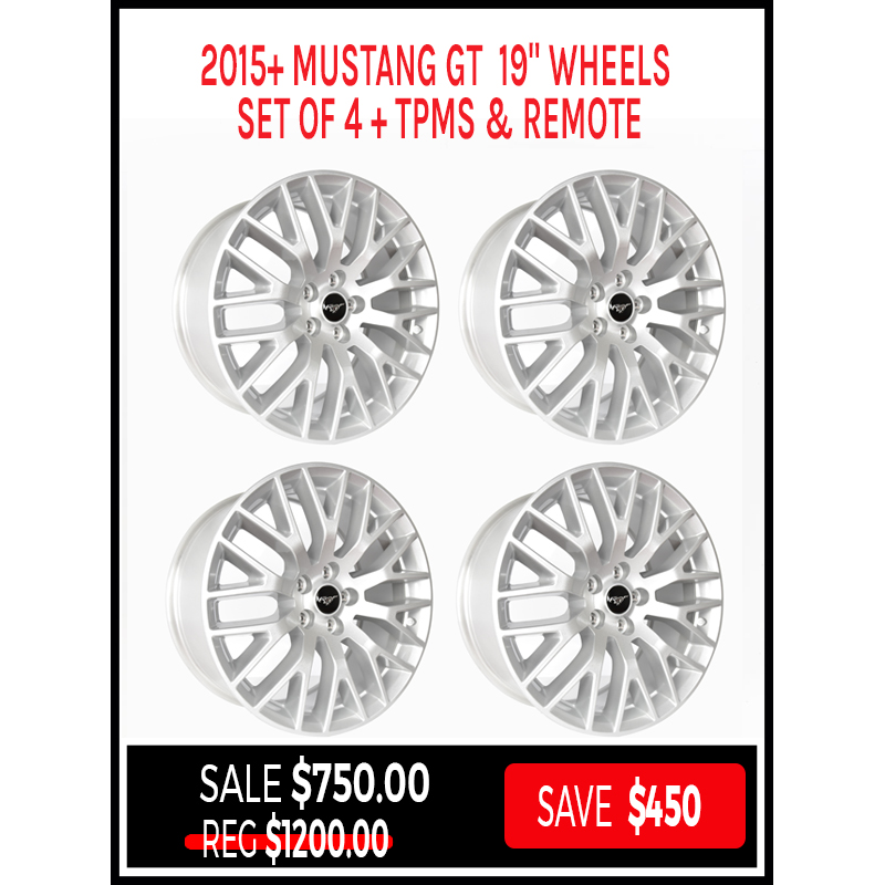 2015 2018 19 Mustang Gt Wheels Set Of 4 Tpms Remote Kohr Motorsports
